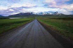 Islandzka droga Zdjęcia Royalty Free