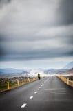 Islandzka droga Zdjęcia Stock