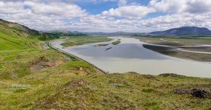 Islandzka krajobrazowa panorama Fotografia Stock