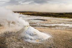 Islandzki geotermiczny parowy wzgórze Zdjęcia Royalty Free
