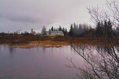 Islandzki jezioro obraz stock