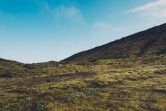 Islandzki krajobraz Na słonecznym dniu Obrazy Royalty Free