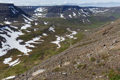 Islandzki landschap w lecie Zdjęcia Stock