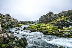 Islandzki lato strumyk Obrazy Royalty Free