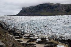 Islandzki lodowiec Fotografia Royalty Free