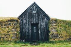 Islandzki murawa dom Zdjęcie Royalty Free