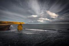 Islandzki nabrzeżny scenary obrazy royalty free