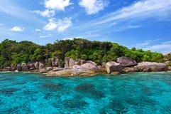 Islas azules de Similan del mar Foto de archivo