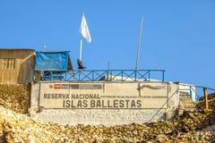 Islas Ballestas tecken Royaltyfri Bild