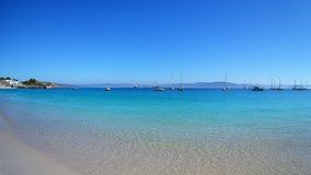 Islas Cíes. Beautifull beach - blue sky - islas Cíes Royalty Free Stock Photo