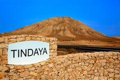 Islas Canarias de Fuerteventura de la montaña de Tindaya Fotografía de archivo