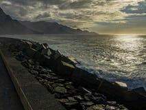 Islas Canarias de la vista al mar de Agaete fotos de archivo libres de regalías