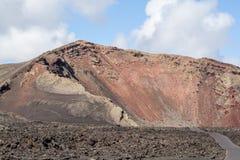 Islas Canarias de Lanzarote del volcán de Collpased Foto de archivo libre de regalías