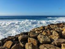 Islas Canarias del océano de Agaete fotos de archivo