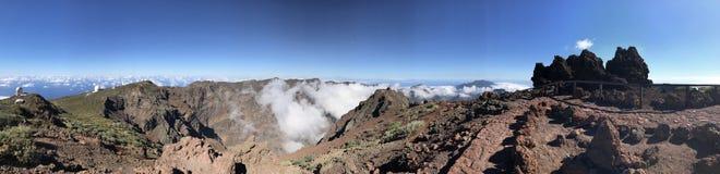 La palma. Islas Canarias, Teide, clouds stock photos