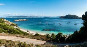 Praia de Nosa Senora on the Cies Islands of Spain Stock Photography