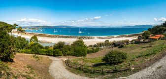 Playa de Rodas on the Cies Islands of Spain Royalty Free Stock Image