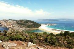 Islas Cies strand Arkivbild