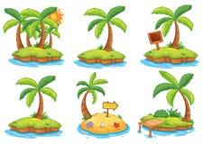 Islas con diversas muestras libre illustration