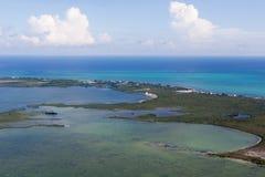 Islas costeras en Belice imagen de archivo