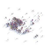 Islas de Aland del mapa de la forma del grupo de la gente Ilustración del Vector