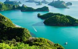 Islas de Ang Thong National Marine Park en Tailandia Fotos de archivo
