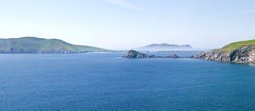 Islas de Blasket y pista de Dunmore Imagen de archivo