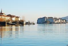 Islas de Borromeo. Lago Maggiore, Italia Imágenes de archivo libres de regalías