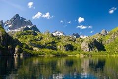 Islas de Lofoten del â de Trolljorden, Noruega Fotografía de archivo