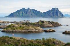 Islas de Lofoten en verano Imagen de archivo