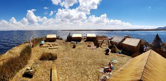Islas de los Uros, le Lac Titicaca, Pérou photos libres de droits