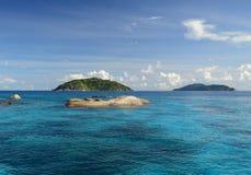 Islas de Similan en el mar de Andaman, Tailandia Imagen de archivo libre de regalías