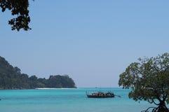 Islas de Surin, el destino famoso del equipo de submarinismo y el viajar que bucea Imagen de archivo