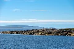 Islas del archipiélago de Kuzova en el mar blanco fotografía de archivo libre de regalías