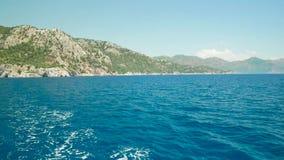 Islas del Egeo en un paseo del mar almacen de metraje de vídeo