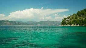Islas del Egeo en un paseo del mar metrajes