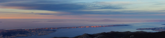 Islas del mar en abajo el panorama Fotografía de archivo