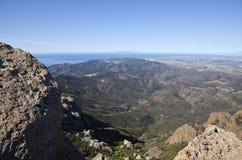 Islas del pico y de canal de Mugu de la punta en California fotografía de archivo
