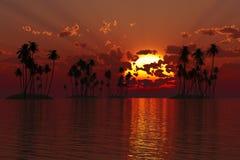 Islas del trópico del coco Fotos de archivo