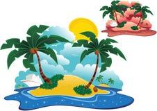 Islas desiertas stock de ilustración