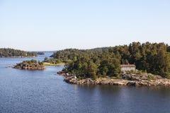 Islas en el archipiélago de Estocolmo Fotografía de archivo