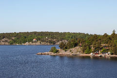 Islas en el archipiélago de Estocolmo Foto de archivo