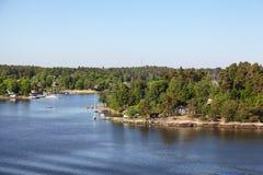 Islas en el archipiélago de Estocolmo Foto de archivo libre de regalías