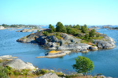 Islas en el archipiélago de Estocolmo Fotos de archivo libres de regalías