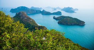Islas en el mar Imágenes de archivo libres de regalías