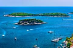 Islas en el mar adriático, Croacia fotos de archivo libres de regalías