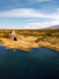 Islas flotantes de los uros. Photograph taken in travel of Islas flotantes de los uros, Bolivia Stock Photography