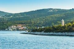 Islas jónicas de la bahía de Fiskardo Imagen de archivo libre de regalías