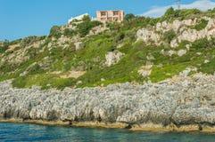 Islas jónicas de la bahía de Kefalonia Imagenes de archivo