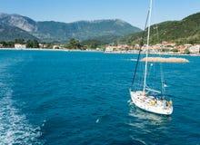 Islas jónicas de la bahía de Lefkada Imagenes de archivo